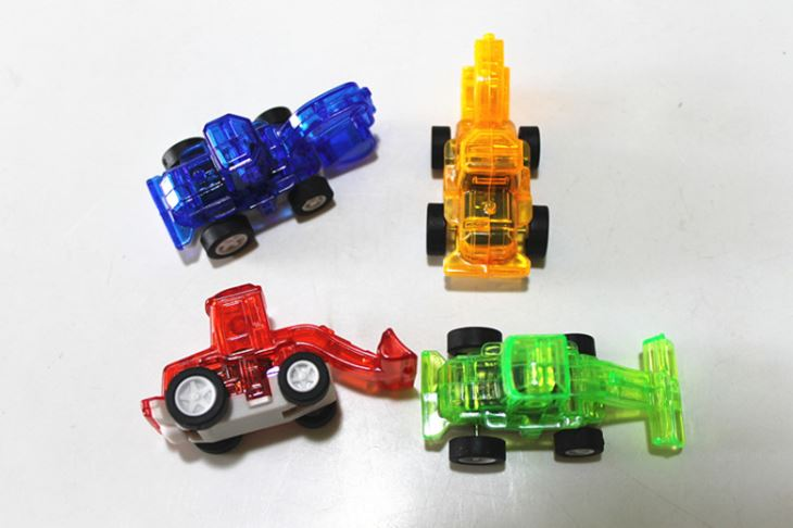 Pull Back Forklift Toy Car For Kids Capsule Toy