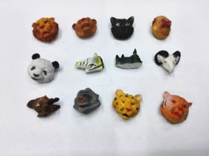 Mini Animal Print Toy Plastic Animal Head Toys