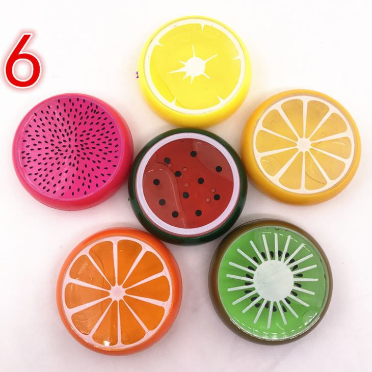 Wholesale Children DIY Educational Toy Fruit 6 Colors Crystal Slime